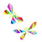 Libellule de verre coloré Photos libres de droits