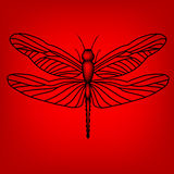 Libellule en rouge Images stock