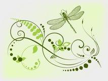 Libellule organique illustration stock