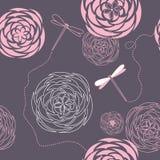 Libellules et fleurs illustration libre de droits
