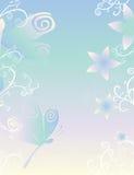 Libellules et papier de fleurs Photographie stock libre de droits