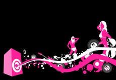 Liberação da música ilustração do vetor