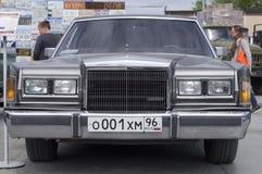 Liberação retro de Lincoln Town Car 1989 do carro Fotografia de Stock