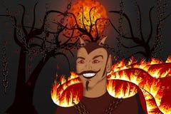Liberación del diablo ilustración del vector