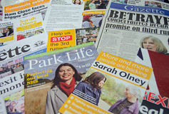 Liberal Democrat by-election leaflets Royalty Free Stock Photo