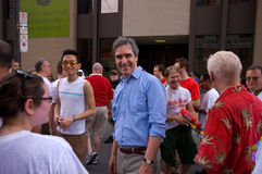 Liberal Michael Ignatieff. Toronto's 28th Pride Parade. The proud participants marched south on  Yonge Street, the world's longest street. It is believed that Stock Image