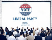 Liberal Party Election Vote Democracy Concept royalty free stock images