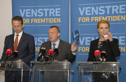 LIBERAL PARTY JOINT PRESS CONFERENCE Royalty Free Stock Photo