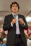 Liberal Party leader Justin Trudeau. Justin Trudeau at Chrystia Freeland Rally in Toronto, October 2, 2013 stock images