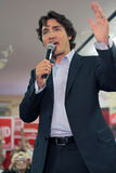 Liberal Party leader Justin Trudeau. Justin Trudeau at Chrystia Freeland Rally in Toronto, October 2, 2013 stock image