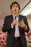 Liberal Party leader Justin Trudeau. Justin Trudeau at Chrystia Freeland Rally in Toronto, October 2, 2013 stock photo