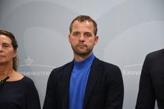 LIBERAL PERSON FÖR MORTEN OSTERGARD_LEADER NOLLA-RADIKAL royaltyfri foto
