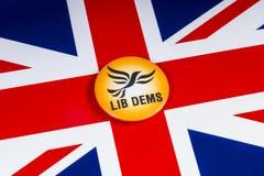 Liberale Democraten Politieke Partij in het UK royalty-vrije stock foto's