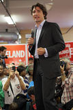 Liberale Partijleider Justin Trudeau royalty-vrije stock afbeeldingen