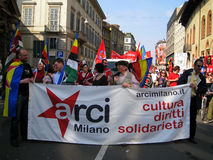 Liberation Day in Milan.Italy, Royalty Free Stock Photo