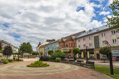 The Liberation Square in Michalovce city, Slovakia Royalty Free Stock Photo