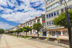 The Liberation Square in Michalovce city, Slovakia Stock Images