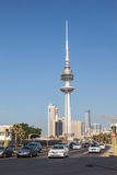 Liberation Tower in Kuwait Cit Royalty Free Stock Photo