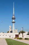 The Liberation Tower in Kuwait City Stock Images