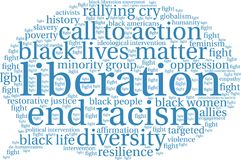 Liberation Word Cloud Royalty Free Stock Photography