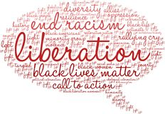 Liberation Word Cloud Stock Images