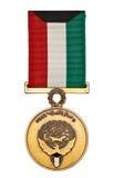 Liberazione della medaglia del Kuwait fotografia stock