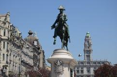 Liberdade广场、自由或者自由正方形;波尔图 免版税库存照片