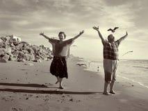 A liberdade alegre de aposentadoria Foto de Stock Royalty Free