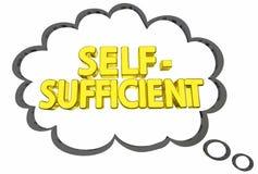 Liberdade autossuficiente 3d Illustrati da nuvem do pensamento da independência ilustração stock