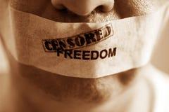 Liberdade censurada imagem de stock royalty free