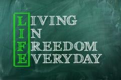 Liberdade da vida Fotografia de Stock Royalty Free
