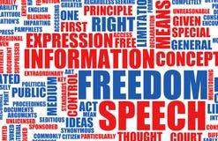 Liberdade de expressão ilustração stock