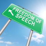 Liberdade de expressão. Foto de Stock Royalty Free