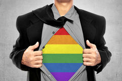 Liberdade de LGBT conceptual imagem de stock royalty free