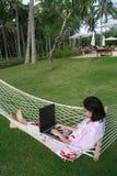 Liberdade de trabalho em qualquer lugar Foto de Stock Royalty Free