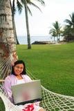 Liberdade de trabalho em qualquer lugar Imagem de Stock Royalty Free