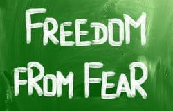 Liberdade do conceito do medo ilustração royalty free
