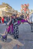 A liberdade do vagão, todas as borboletas - Carnaval 2019 Viareggio, Toscânia, Itália fotografia de stock