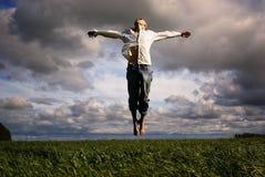 Liberdade do voo do homem foto de stock royalty free