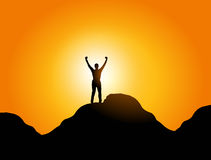 Liberdade e sucesso Foto de Stock Royalty Free