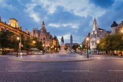 Liberdade kwadrat, Porto Zdjęcia Stock