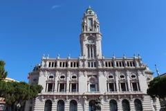 Liberdade obciosuje Porto urząd miasta, Porto, Portugalia Fotografia Royalty Free