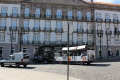 Liberdade obciosuje Porto urząd miasta, Porto, Portugalia Obraz Royalty Free