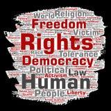 Liberdade política de direitos humanos do vetor, democracia ilustração royalty free