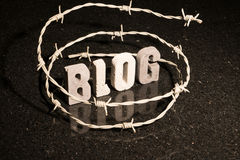 Liberdade restrita de blogging Imagem de Stock Royalty Free