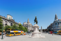 Liberdade Square, Porto Stock Image