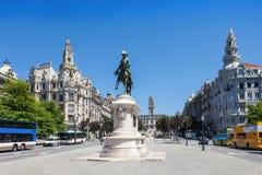 Liberdade Square, Porto Stock Photo