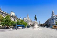 Liberdadevierkant, Porto Royalty-vrije Stock Foto's