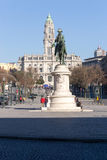Liberdadevierkant, Porto, Portugal stock afbeelding
