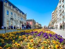 Liberdadeweg Braga Portugal stock foto's